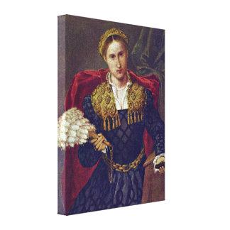 Lorenzo Lotto - Laurawife of Febo da Brescia Canvas Prints