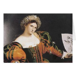 Lorenzo Lotto Lucretia Card