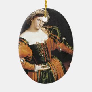 Lorenzo Lotto Lucretia Christmas Tree Ornament