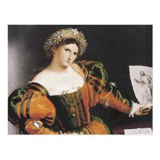 Lorenzo Lotto Lucretia Postcard