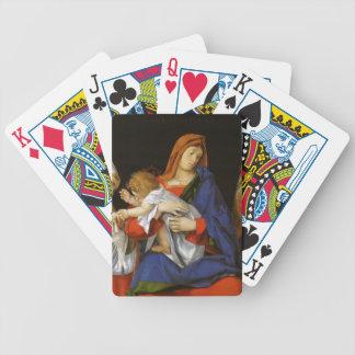 Lorenzo Lotto- Madonna a Bishop St Onuphrius Playing Cards