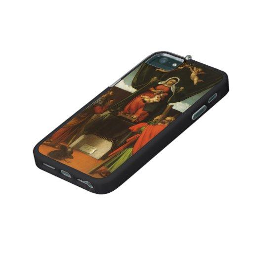 Lorenzo Lotto- Madonna ,Child Enthroned ,Saints iPhone 5/5S Case
