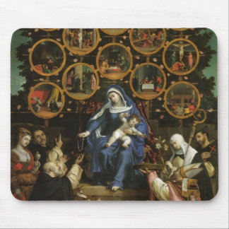Lorenzo Lotto- Madonna of the Rosary Mousepads