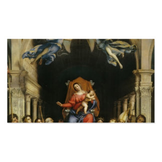 Lorenzo Lotto-Madonna with Angels and Saints Business Card Template