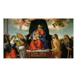 Lorenzo Lotto- Madonna with Angels Saints Business Card Templates
