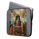 Lorenzo Lotto- Madonna with Angels & Saints Laptop Computer Sleeves