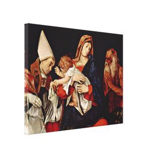 Lorenzo Lotto - Madonna with Saints Canvas Print