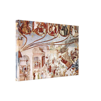 Lorenzo Lotto - Martyrdom of St Clare Stretched Canvas Print
