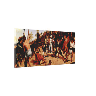 Lorenzo Lotto - Martyrdom of St Stephen Gallery Wrap Canvas