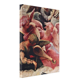Lorenzo Lotto - Musician Angels (top left) Stretched Canvas Prints