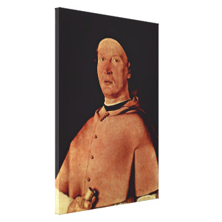 Lorenzo Lotto - Portrait of a gentleman Gallery Wrapped Canvas