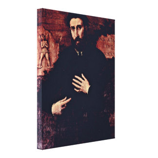 Lorenzo Lotto - Portrait of a man of 37 years Gallery Wrap Canvas