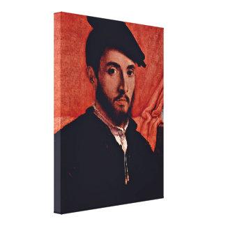 Lorenzo Lotto - Portrait of a Young Man Canvas Print