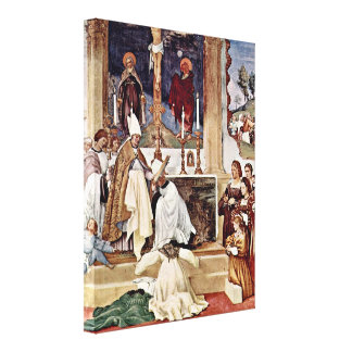 Lorenzo Lotto - Reception of StClare with habit Gallery Wrapped Canvas