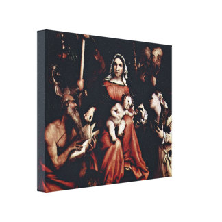 Lorenzo Lotto - Sienese is a nun Stretched Canvas Prints