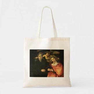 Lorenzo Lotto- Signor Marsilio Cassotti & his Wife Canvas Bag