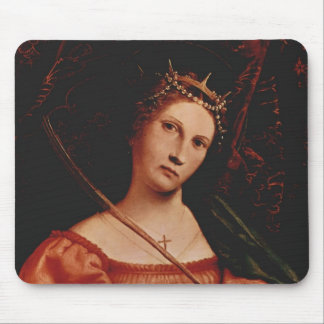 Lorenzo Lotto- St. Catherine of Alexandria Mousepad