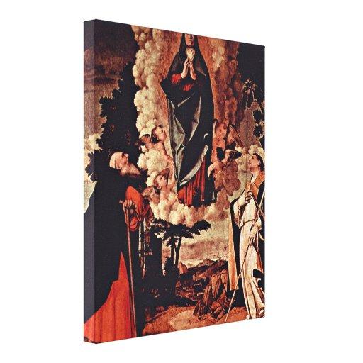 Lorenzo Lotto - StAnthony y StLouis Impresión En Lona