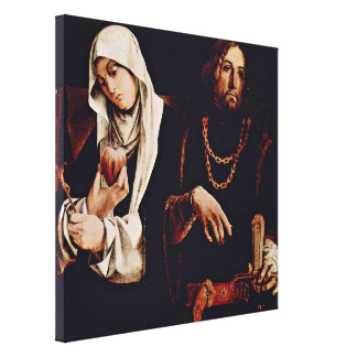 Lorenzo Lotto - StCatherine and StSigismund Stretched Canvas Print