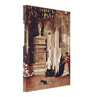 Lorenzo Lotto - StLucia in prayer and leave Canvas Print