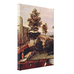 Lorenzo Lotto - Susanna and the Elders Detail Stretched Canvas Print