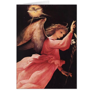 Lorenzo Lotto- The Angel of the Annunciation Card
