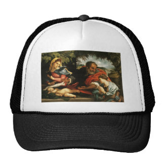 Lorenzo Lotto- The Holy Family with St. Catherine Trucker Hat