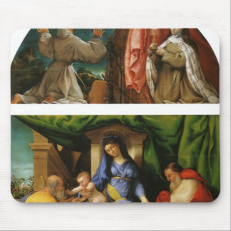 Lorenzo Lotto- The Madonna of the Roses Mouse Pad