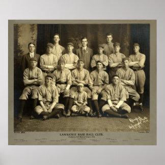Lorenzo, Massachusetts Baseball, 1914 Posters