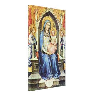 Lorenzo Monaco - Madonna Enthroned Impresiones En Lona Estiradas