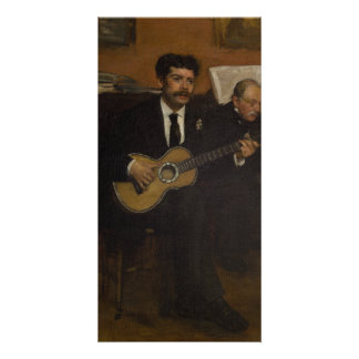 Lorenzo Pagans and Auguste de Gas by Edgar Degas Card