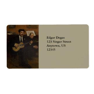 Lorenzo Pagans and Auguste de Gas by Edgar Degas Label