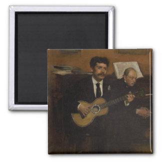 Lorenzo Pagans and Auguste de Gas by Edgar Degas Magnet