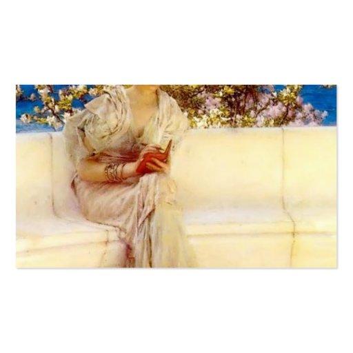 Lorenzo Tadema- el año s en la primavera Plantilla De Tarjeta De Negocio