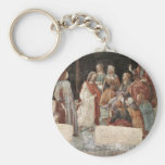 Lorenzo Tornabuoni Before The Seven Liberal Arts B Basic Round Button Keychain