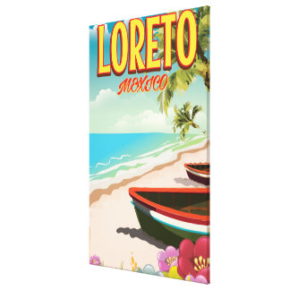 Loreto Mexico travel poster Canvas Print