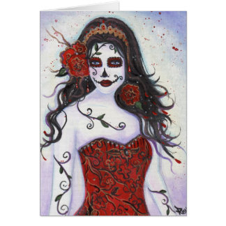 Loretta Day of the Dead Card By Renee