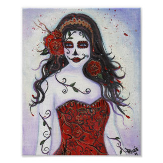 Loretta Day of the Dead poster By Renee Lavoie