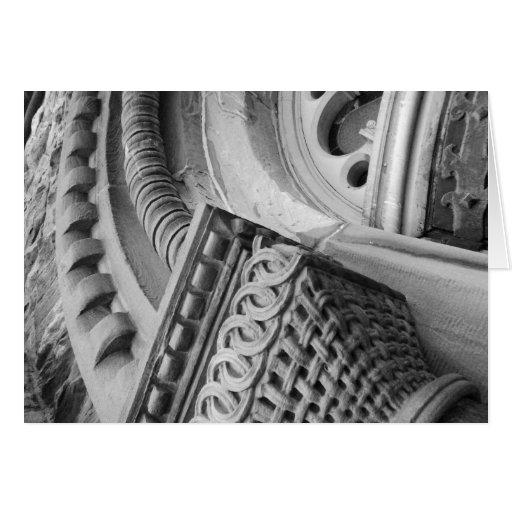 Lorette arquitectónico blanco y negro C. Luzajic Tarjeta De Felicitación