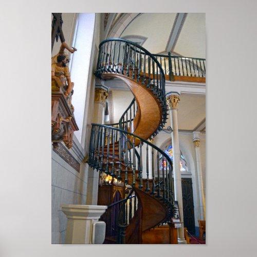 Loretto Chapel Miraculous Stairway, Santa Fe, N.M. Poster