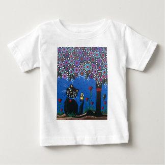 Lori Everett_ Day Of The Dead, Black Cat, Cute Art Baby T-Shirt