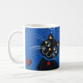 Lori Everett_ Day Of The Dead, Black Cat, Cute Art Mug