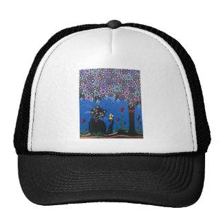 Lori Everett_ Day Of The Dead, Black Cat, Cute Art Trucker Hat