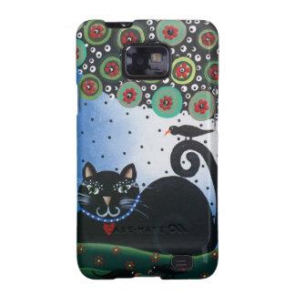 Lori Everett_ Day Of The Dead_ Black Cat_Mexican Samsung Galaxy S2 Cases