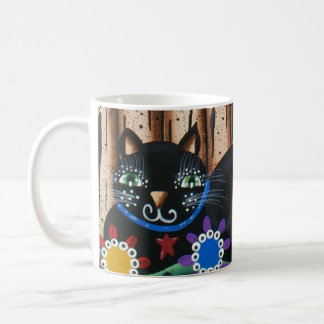 Lori Everett_ Day Of The Dead,Black Cat,Mexican Coffee Mugs