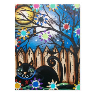 Lori Everett_ Day Of The Dead,Black Cat,Mexican Postcard