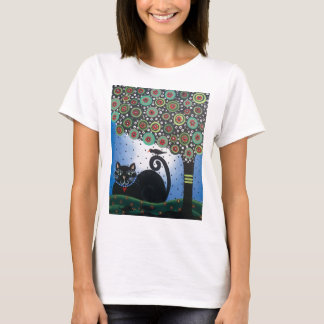 Lori Everett_ Day Of The Dead_ Black Cat_Mexican T-Shirt