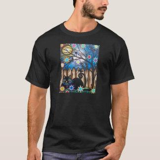 Lori Everett_ Day Of The Dead,Black Cat,Mexican T-Shirt