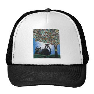 Lori Everett_ Day Of The Dead_ Black Cat_Mexican Trucker Hat
