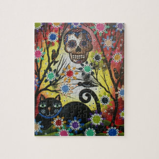 Lori Everett_ Day Of The Dead,Cat, Skull, Puzzles